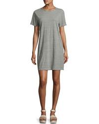 Current/Elliott The Beatnik Striped T Shirt Dress Gray