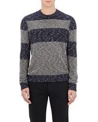 Barneys New York Striped Sweater Grey Size Na