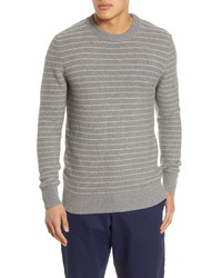 Oliver Spencer Blenheim Slim Fit Stripe Organic Cotton Sweater