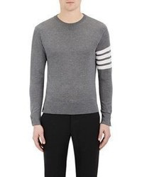 Thom Browne Block Striped Sweater Grey