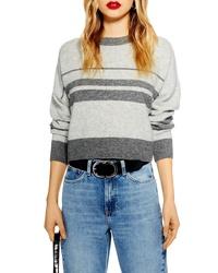 Topshop Crop Stripe Sweater