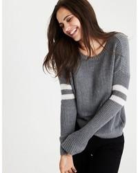 Double striped varsity sweater medium 6793108