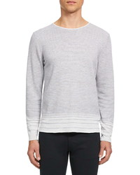 Theory Guinard Fragted Stripe Crewneck Sweater