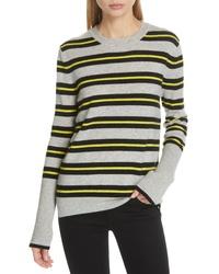 LA LIGNE Le Ligne Tripe Stripe Cashmere Sweater