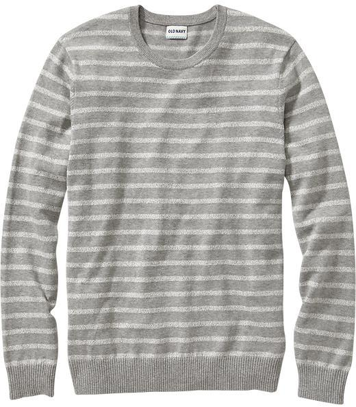 Old Navy Marled Stripe Crew Neck Sweaters | Where to buy & how to wear