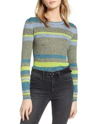 Treasure & Bond Metallic Stripe Pullover
