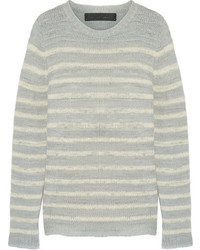 Picasso striped cashmere sweater light gray medium 6793109
