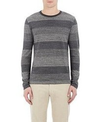 Officine Generale Shadow Stripe Sweater Grey