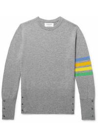 Thom Browne Slim Fit Striped Cashmere Sweater