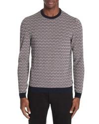 Emporio Armani Stripe Cotton Crewneck Sweater
