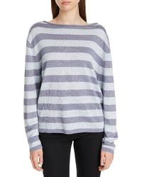 Nordstrom Signature Stripe Linen Silk Sweater