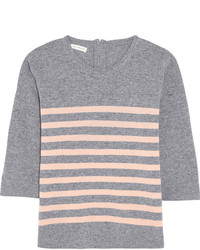 Striped cashmere sweater gray medium 371854