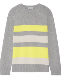 Striped cashmere sweater gray medium 6793111