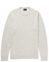Club Monaco Striped Cotton Blend Boucl Sweater