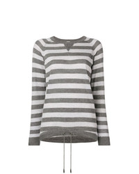 Eleventy Striped Pattern Sweater