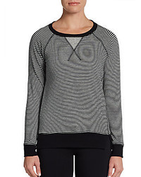Striped performance pullover medium 371862