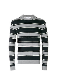 Salvatore Ferragamo Textured Striped Sweater