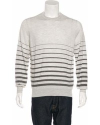 Brunello Cucinelli Virgin Wool Striped Sweater