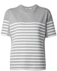 Alexander wang t by striped t shirt medium 439788