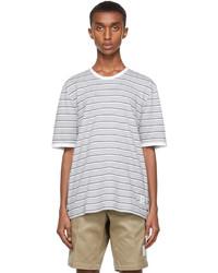 Thom Browne Grey Bar Stripe Ringer T Shirt