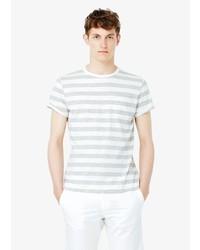 Mango Man Chest Pocket Striped T Shirt