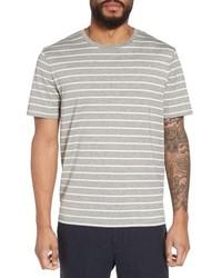 Vince Slim Fit Heathered Stripe T Shirt