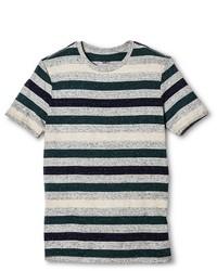 Mossimo Slim Fit Striped T Shirt Graygreenblue Supply Co