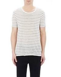 ATM Anthony Thomas Melillo Striped Jersey T Shirt Grey Size S