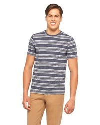Mossimo Supply Co Slim Fit Striped Tee Shirt Gray