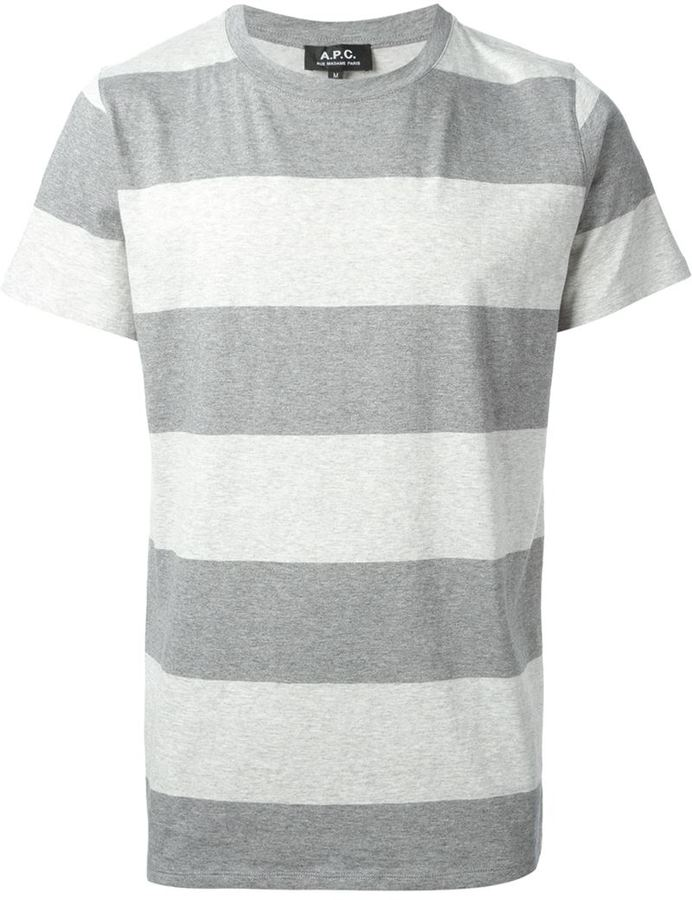 Clearance 2018 New striped T-shirt - Grey A.P.C. Discount The Cheapest Free Shipping Pay With Visa Free Shipping Geniue Stockist Discount Low Price bahUM