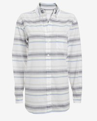 Margaux horizontal stripe pattern button down medium 186515