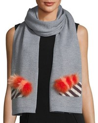 Fendi Scarf W Fur Butterfleye Detail