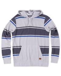 Grey Horizontal Striped Hoodie