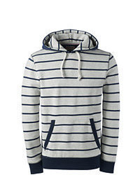Classic Long Sleeve Stripe Serious Sweats Pullover Hoodie Light Gray Heatherxl