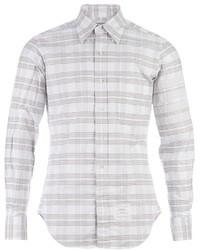 Grey Horizontal Striped Long Sleeve Shirt