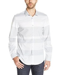 Calvin Klein Long Sleeve Yarn Dye Wide Horizontal Shirt