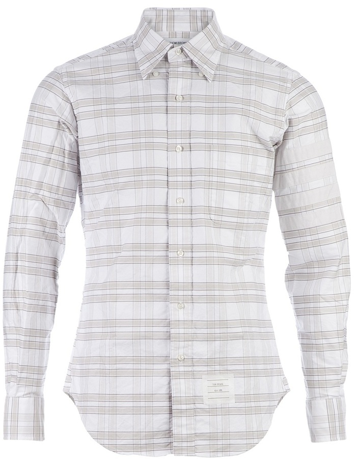 Thom browne striped button down shirt where to buy how for Where to buy button down shirts