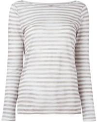 Majestic Filatures Longsleeved Striped T Shirt
