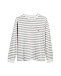 CARHARTT WORK IN PROGRESS Scotty Stripe Long Sleeve Pocket T Shirt