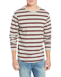 Frame Stripe Classic Long Sleeve Crewneck T Shirt
