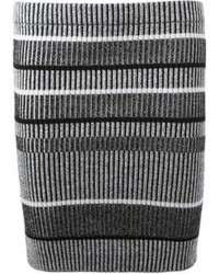 Alexander Wang T By Striped Ribbed Mini Skirt