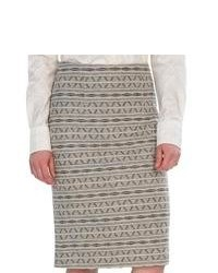 Pendleton Pine Valley Jacquard Skirt Wool Soft Grey