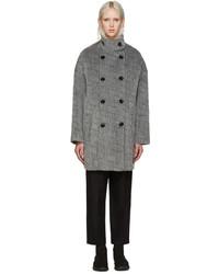 Kenzo Grey Ny Stripes Coat