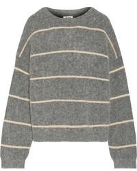 Rhira striped knitted sweater gray medium 5083792