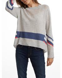 Cashmere mesh striped crewneck medium 3650217