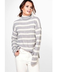 Ruby striped fisherman rib roll jumper medium 3650213