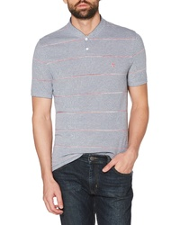 Original Penguin Space Dyed Stripe Pique Henley