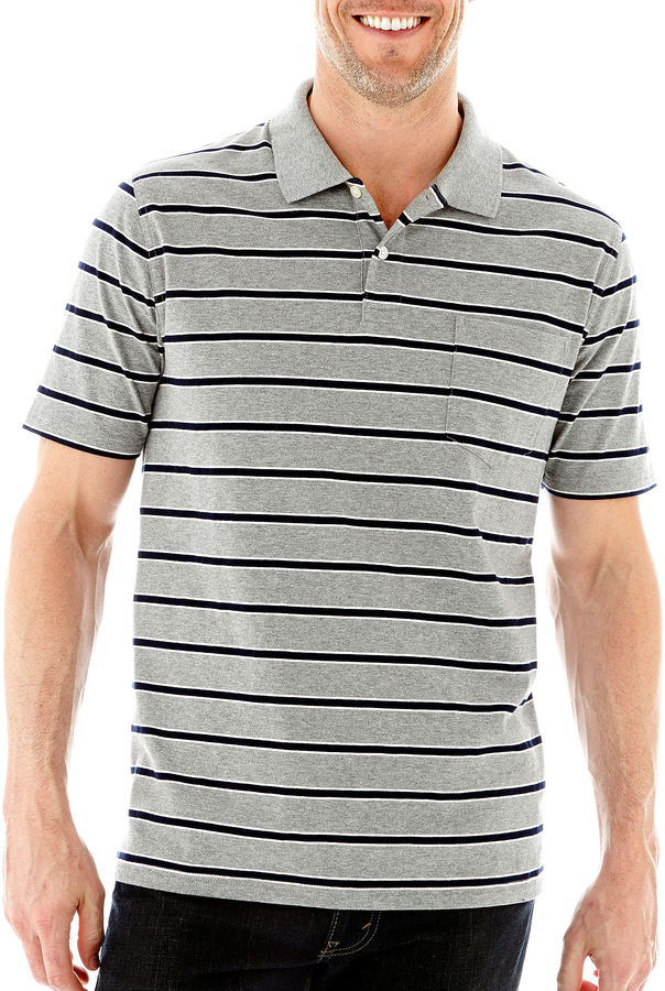 e9ad29a570 jcpenney St Johns Bay Short Sleeve Heather Striped Jersey Polo, $26 ...