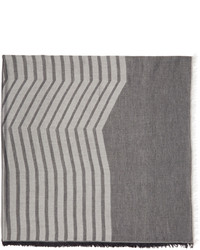 Grey Horizontal Striped Scarf