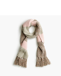 J.Crew Italian Wool Blend Striped Scarf